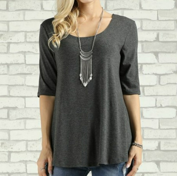 a414a7b9f9d Suzanne Betro Back-Keyhole Scoop Neck Tunic